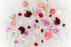 Various shade of pink flowers for rustic wedding
