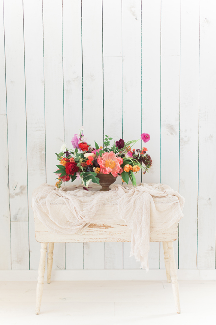 Rustic wedding table at White Sparrow Barn