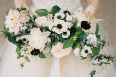 beautiful garden style wedding bouquet at the Aldredge House in Dallas