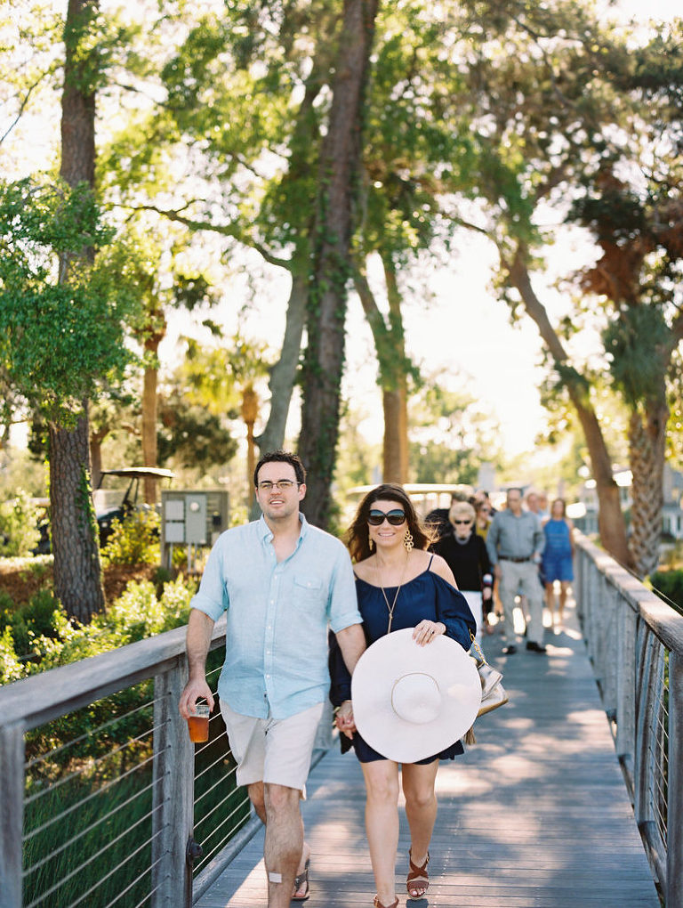 Welcome Party at Moreland Landing at Palmetto Bluff planned and designed by Birds of a Feather Events